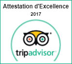Tripadvisor, Attestation d'Excellence 2017